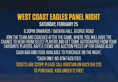 West Coast Eagles Panel Night