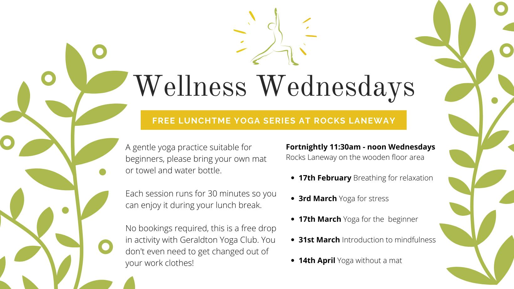 Wellness Wednesday flyer