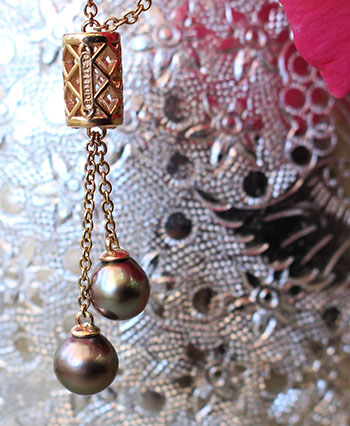 Moroccan Two Pearl Pendant by Latitude Gallery
