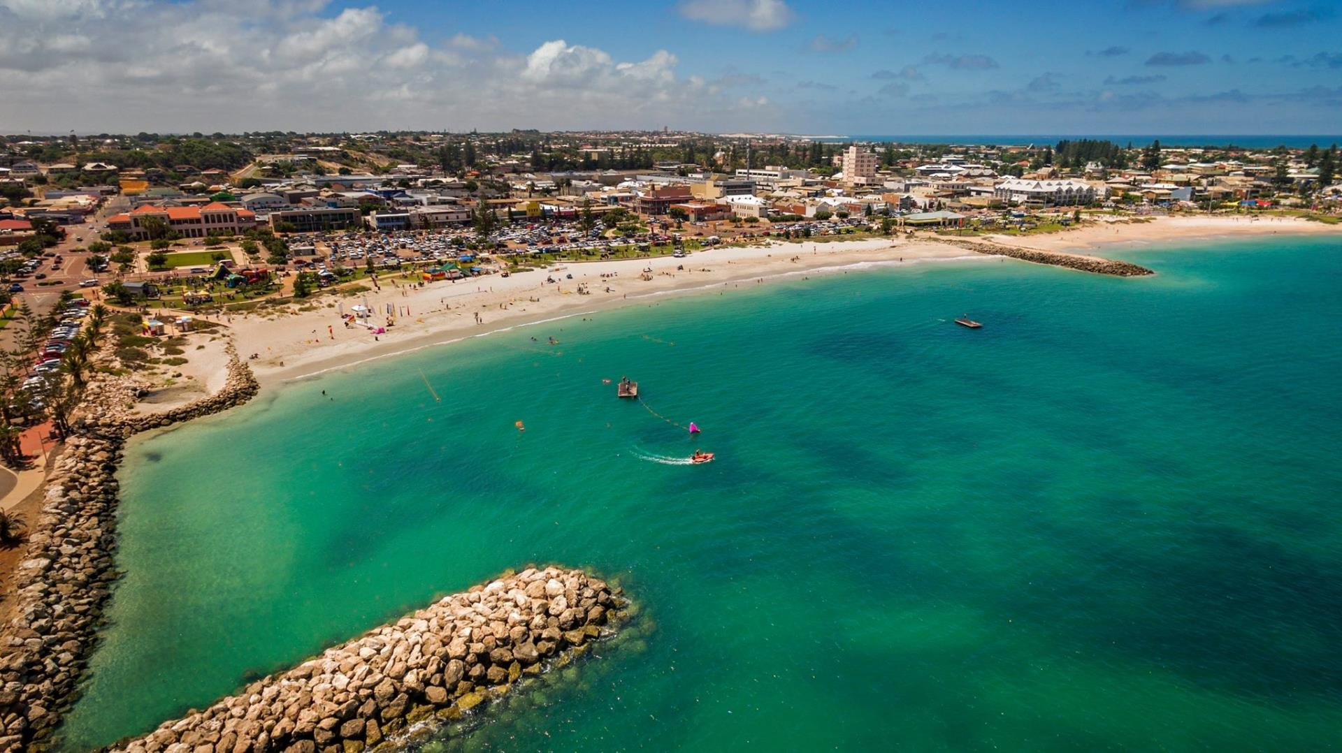 Aerial of Geraldton. Photo credit: Western Aerial Mapping.