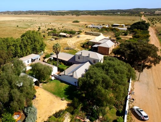 Greenough Museum & Gardens - Aerial view of Greenough Museum &