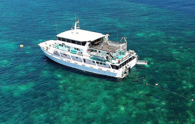 Eco Abrolhos Cruises - The Eco Abrolhos Moored up on a